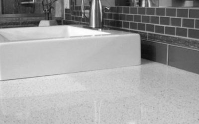 Clean White Quartz Countertops
